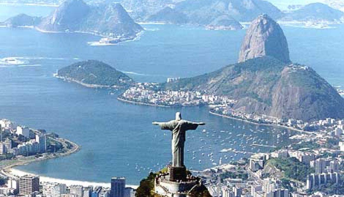Río de Janeiro se besienswaardighede - die Christusbeeld en die Sugar Loaf