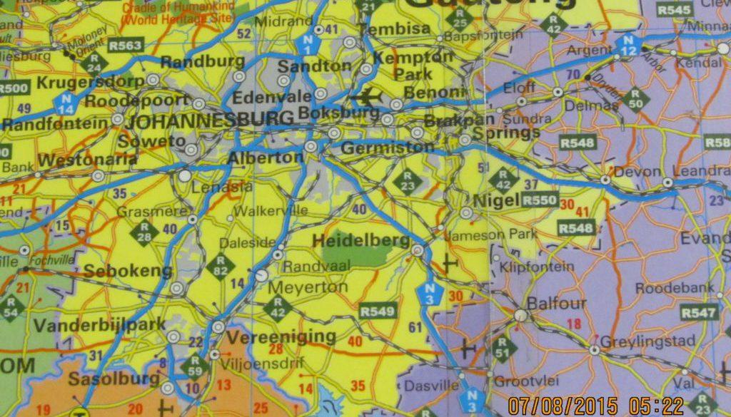 Mapa Sudáfrica Laurik International 1